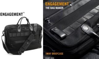 ENGAGEMENT(エンゲージメント) Engaged Nylon(エンゲージド・ナイロン) 3way Briefcase(3way ブリーフケース) バックバック ショルダーバッグ カラー:3色 EGBF-003