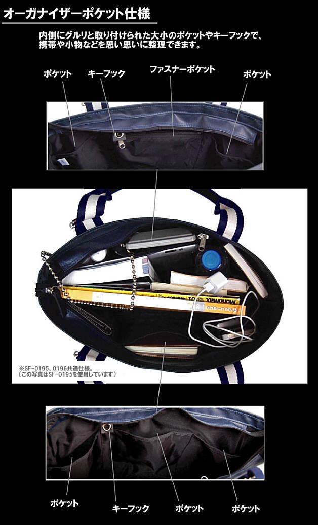 SF-0196 トートバッグの内部